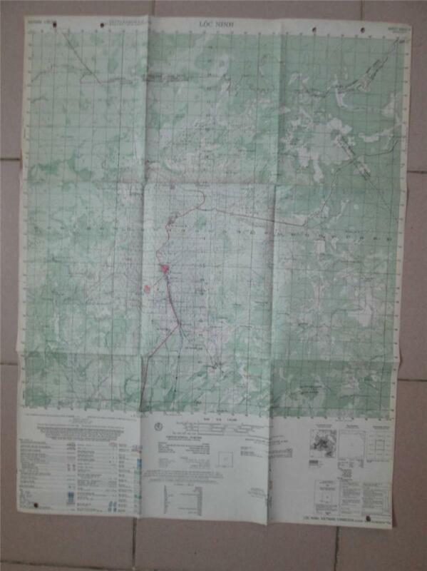 LOC NINH Cambodia Vietnam map AIR CAV Huey Green Beret 6332 IV