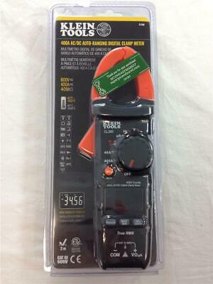 New Klein Tools Cl380 400a Acdc Auto Ranging Digital Clamp Meter