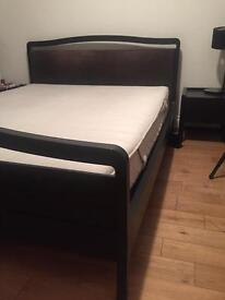 Habitat king size bed, mattress and 2 bedside tables