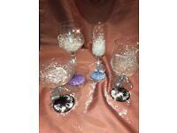 Personalised wine glasses gift wrapped for Secret Santa, Best Teacher, stocking
