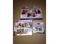 Frozen puzzles and memory game