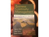 Business Continuity Management - university essential course book