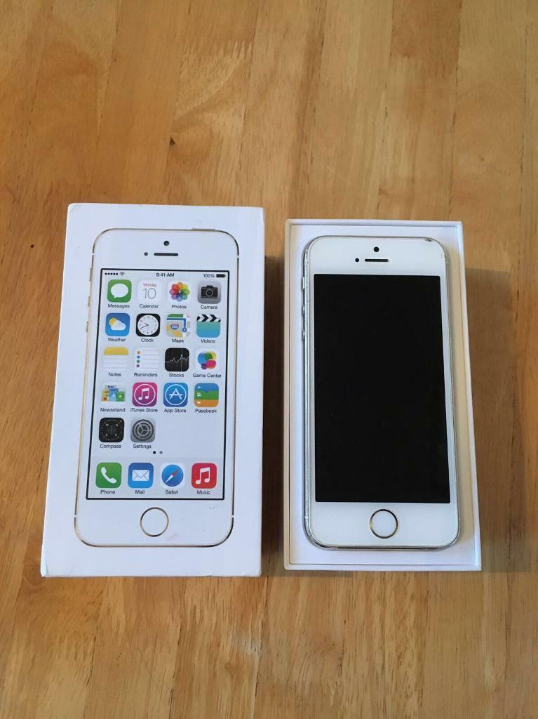 Iphone 5s 64gb white and gold