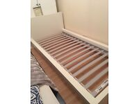 Bed - Single IKEA bed in white