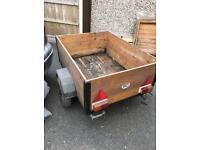 4ft by 3ft wooden box trailer with electrics