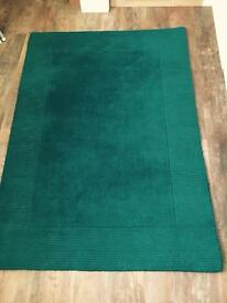 Gorgeous Teal rug for sale 1.7 x 1.2m. 100% Wool