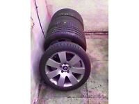 "Bmw 18"" Alloy Wheels 1/3/5 E60 E61 F10 E90 1&3&5 SERIES Can Sell Single Can Post Part Ex Welcome"
