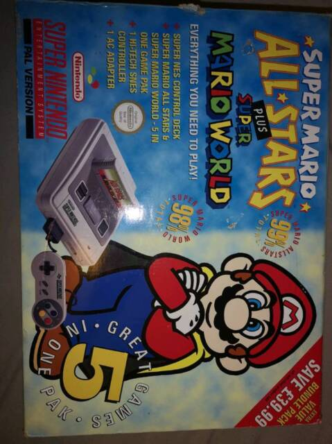 Super nintendo 1-CHIP console boxed Super Mario All Stars Plus Super Mario  World | in Leeds, West Yorkshire | Gumtree