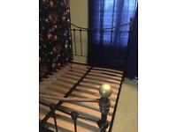 Metal double bed frame - Victorian style