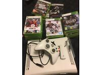 Xbox 360 with over 30 games 1 control pas