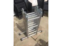 Abru 3 way combination aluminium ladder