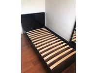 Black Gloss Single Bed