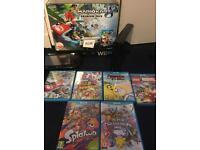 Nintendo Wii U Mariokart 8 Premium Bundle - boxed with 6 games