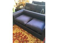 Blue sofa bed can deliver