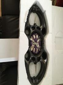 Designer large heavy resin wall clock brand new boxed