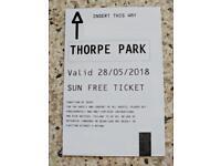 Thorpe Park Tickets Mon 28th May 2018 bank holiday