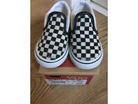 Unisex Toddler Checkered Vans - UK Size 5