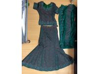 Asian wedding outfit green
