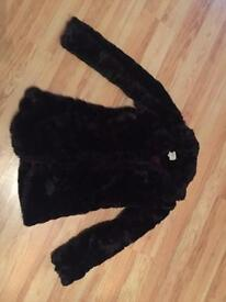 Fake fur coat size 8 brand new never worn