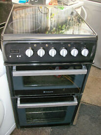 HOTPOINT ELECTRIC COOKER 50CMS WIDE.FREE DELI VERY B,MOUTH AND LYMINGTON AREAS