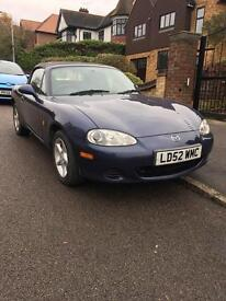 2002/52 plate Mazda lol MX-5, only 2 former keepers, 55000 miles