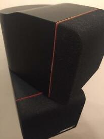 Bose 5.1 twin cube redline speakers x5 plus subwoofer