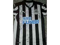 Signed New Nufc shirt