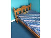 SINGLE BED PINE BED