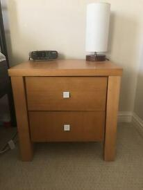 Bedside table with 2 drawers-excellent condition
