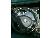 Bmw e36 e39 e38 m sport m tec steering wheels with airbag multifunction