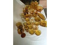 Yellow glass job lot for sale