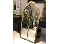 Large Metal Arch Mirror new