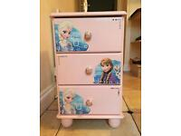 Chest of drawers pink decoupage with frozen very pretty