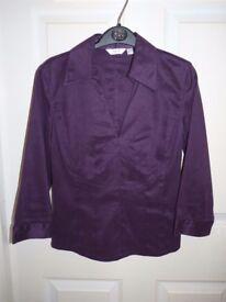 Next - Purple Blouse / Shirt - Size 8 - Feels like suede