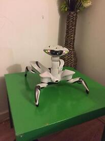 White Quad drone/robot with manual and remote