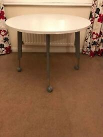 Office or home round table on wheels. New