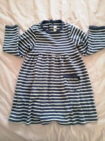 Jojo Maman Bebe Classic Stripe Dress (size 18-24 months) brand new