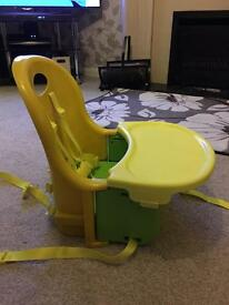 foldable travel portable high chair booster