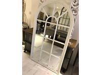 Large White Arch Mirror new