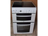 DELIVERY AND WARRANTY Indesit 60cm, double oven electric cooker