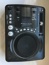 2 x WORKING American Audio Dj CD,Mp3 Mini disc players