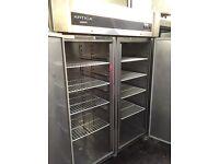 Commercial double door upright fridge, catering fridge