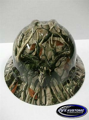 Boneyard Legends Camo New Custom Msa Vgard Full Brim Hydro Dipped Hard Hat