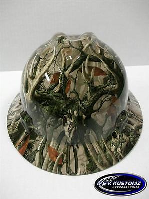 Boneyard Legends Camo New Custom Msa Vgard Full Brim Hydro Dipped Hard Hat