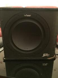 Vibe Slick SLR12 Subwoofer and Vibe Slick Amp