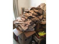 Packing boxes and packing paper