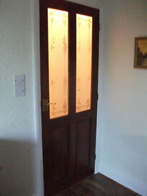 Half-glazed wooden interior doors