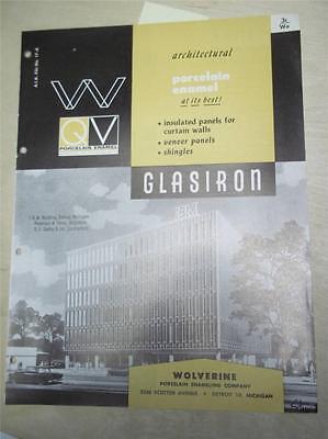Wolverine Porcelain Enameling Co Catalogglasiron Insulated Panelsasbestos1962