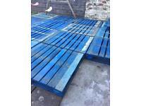 19 blue pallets