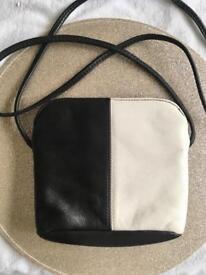 Leather Black & White Bag
